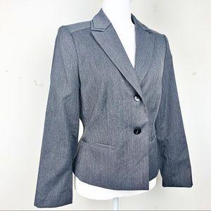 Calvin Klein Gray Carrier Blazer Jacket Size 8